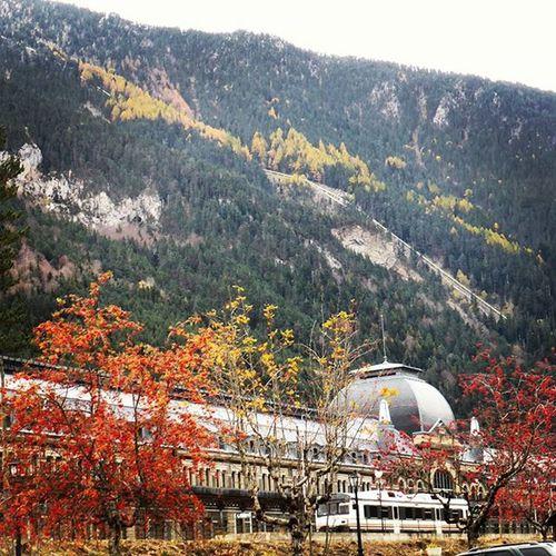 Otoño en Canfranc estación. Nature Autumn Tree turismo Aragón igershuesca travel huescalamagia