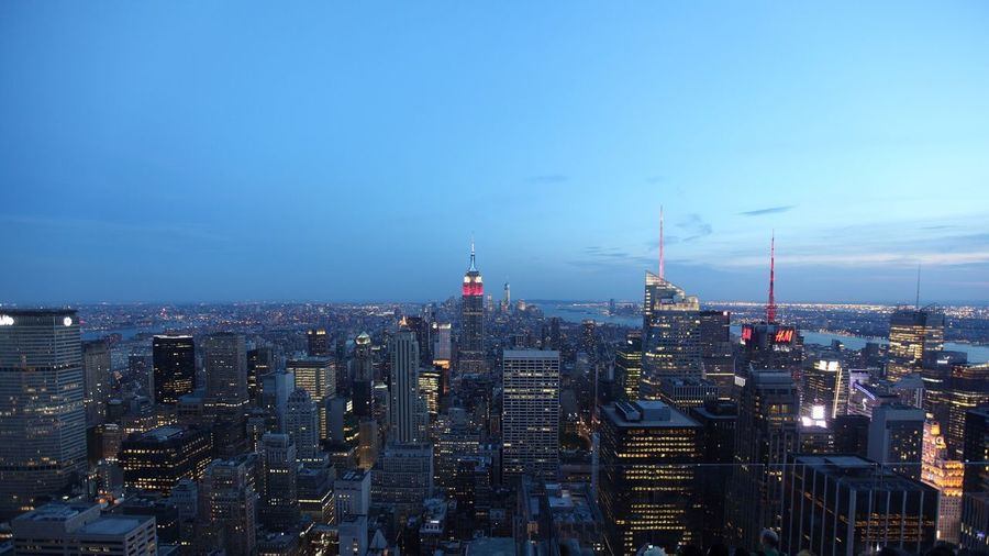 New york cityscape in the evening