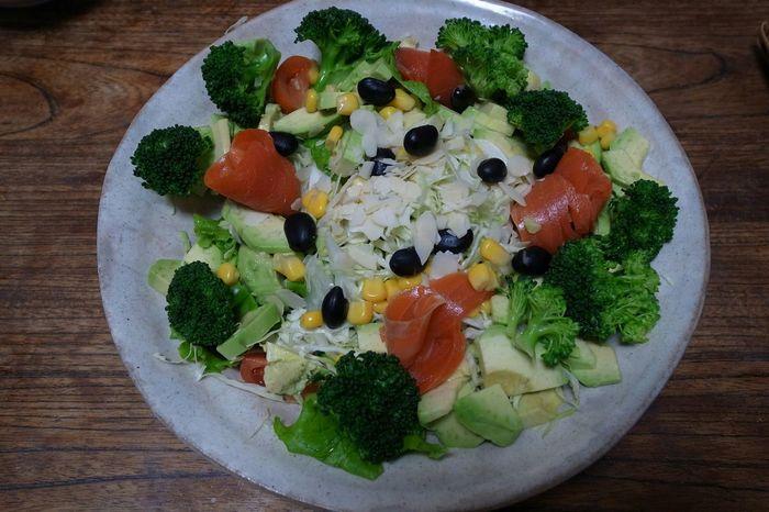 Salad Ham Vegitables Avocado Broccoli Cabbage In My Mouf Yummy Food Porn Enjoying A Meal 姉の家で御馳走になった!①