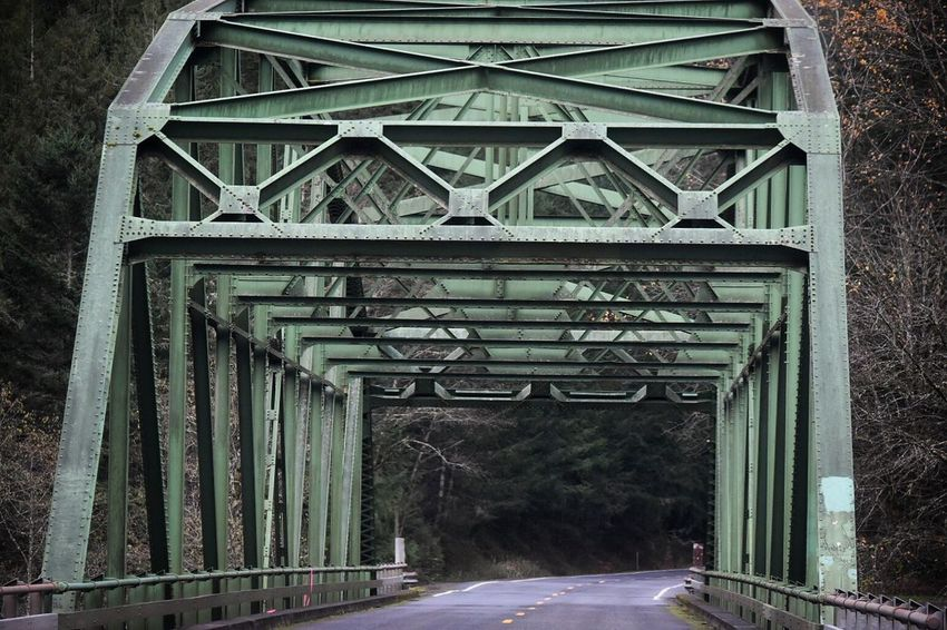 Built Structure Architecture Day Bridge - Man Made Structure Connection No People Outdoors Outside Photography Man Made Object Green Bridge Metal Structure River Crossing River Bridges Pattern Water Crossing Traveling Travel Photography Travel In A Car Out The Car Window Driving Metal Architecture