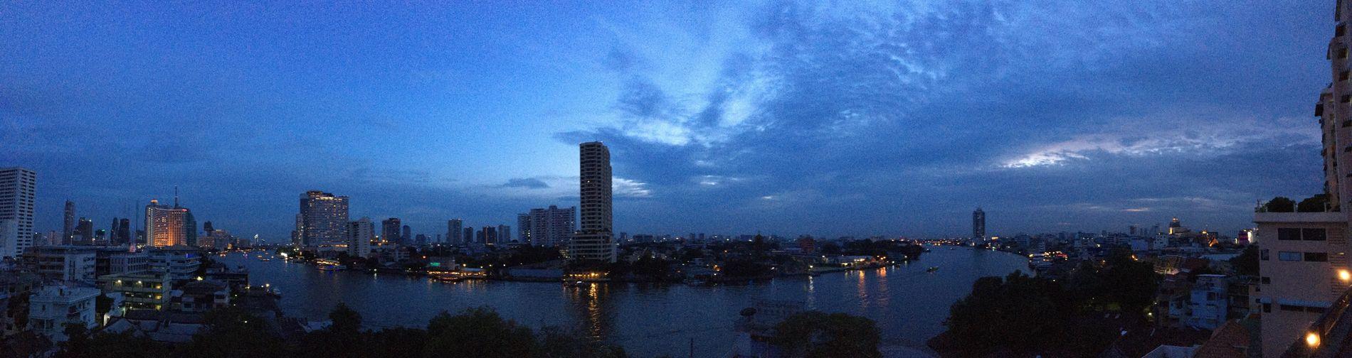 Sunset @ Chaopraya river Thailand City Water Skyscraper Sky First Eyeem Photo