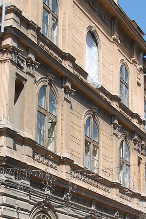 Arch Architectural Feature Architecture Balcony Building Building Exterior Built Structure City Day Façade History Low Angle View No People Old Outdoors Residential Building Residential Structure Sky Travel Destinations Window Timisoara