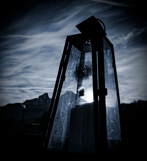 Silhouette Night Dramatic Sky Outdoors Dark Sky Dusk No People Laterne Candellight Watzmann Winter Is Coming... Cold Temperature Winter_collection Welcome To Black