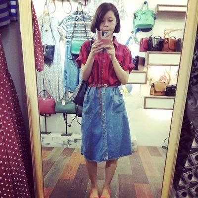 我喜歡古着舊舊的fu 很原創,很迷人 Vintage 復古 古着 Yuna穿搭