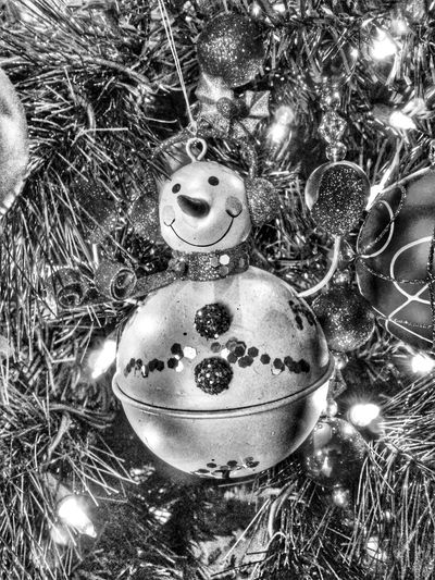 Snowman Christmas ornament Decoration Holiday Cheer Christmas Tree Tree Close-up Close Up Closeup Decorations Holiday Holidays Holidays ☀ Christmas Lights Christmas Around The World Christmas Time Ornaments Ornament Christmas Decoration Christmas Trees Christmas Ornaments Christmas Ornament Blackandwhite Black And White Black&white Snowman Christmas Spirit