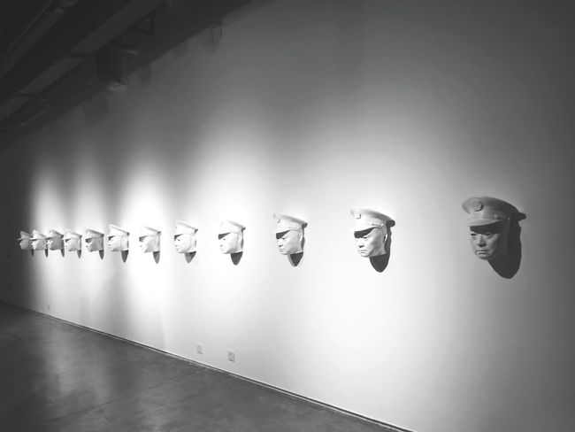 Enjoying Life Mask Weird Art Gallery Art Museum Artistic Expression Meaningful