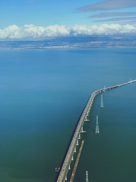 Almost home Water Sea Sky Cloud - Sky Transportation Industry Bridge - Man Made Structure High Angle View Day No People Outdoors Scenics Nature Horizon Over Water Beauty In Nature San Mateo Bridge Matthew Thauberger