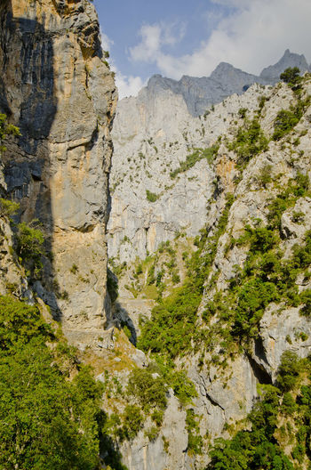 Ancient Civilization Canyon Cliff Day Eroded Exploring Geology Geometry Moss Nature Physical Geography Rock Rock - Object Rock Formation Rocky Rocky Mountains Rough Rugged Rutadelcares Picos De Europa