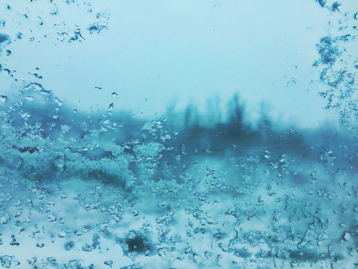 Winter Snow Ice Cold Car Window Close-up Blue Minimalism Backgrounds Vacations Pattern Glass - Material Transparent Weather Water Nature No People Cold Temperature Sky Indoors  Day Beauty In Nature EyeEmNewHere