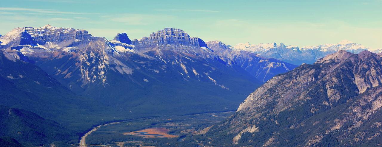 Landscape Mountain Range Mountain Top Nature Outdoors Peak Sulfur Mountain Trail Vintage