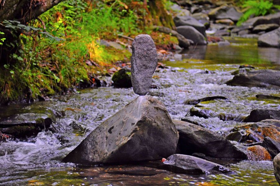 Equilibrio River Peace Water Rock Formation Stone Water Rocky Mountains