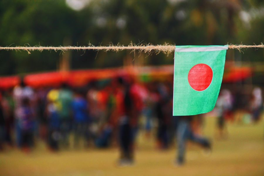 Focus On Foreground Hanging Love Day Multi Colored Red Close-up Outdoors Tree No People @anickchowdhurymp Eyeembangladesh EyeEmNewHere Flag Bangladesh
