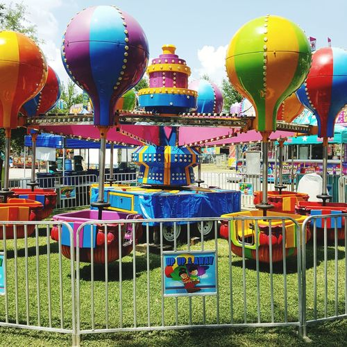 Color overload !!! Multi Colored Balloon Arts Culture And Entertainment Amusement Park Amusement Park Ride Traveling Carnival Fun Variation Hot Air Balloon