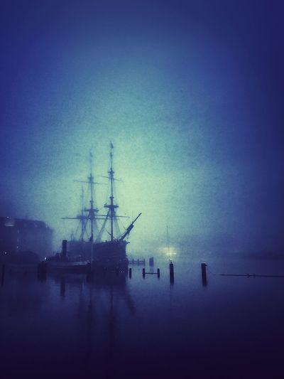 Flying Dutchman Museum Historical Ship History Mystery Canal Port Blue Hour Blue Isolation Amsterdam Old Ship Water Nautical Vessel Sky Sea No People Ship Silhouette Night Dusk Sailboat Sailing
