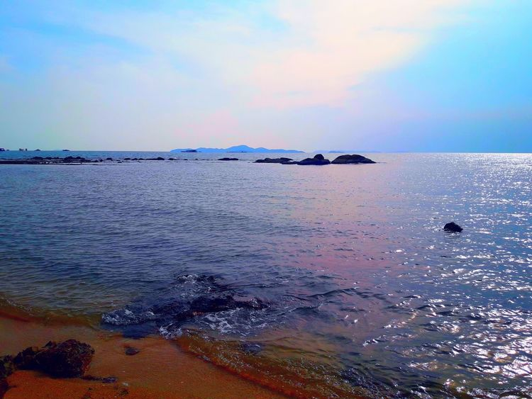 Beach Sea Horizon Over Water Refraction Sky Mountain Multi Colored No People Outdoors Water Nautical Vessel Nature Tranquility Beauty In Nature Thailand🇹🇭 2018 Day EyeEmNewHere Tranquility Beauty❤