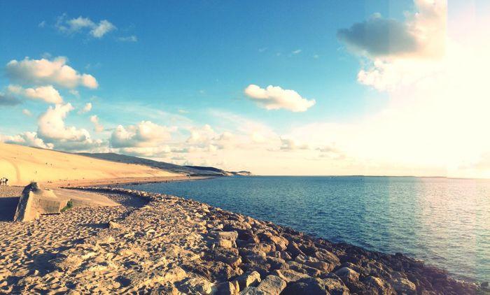 Dune Du Pyla Landscape Sable Ocean