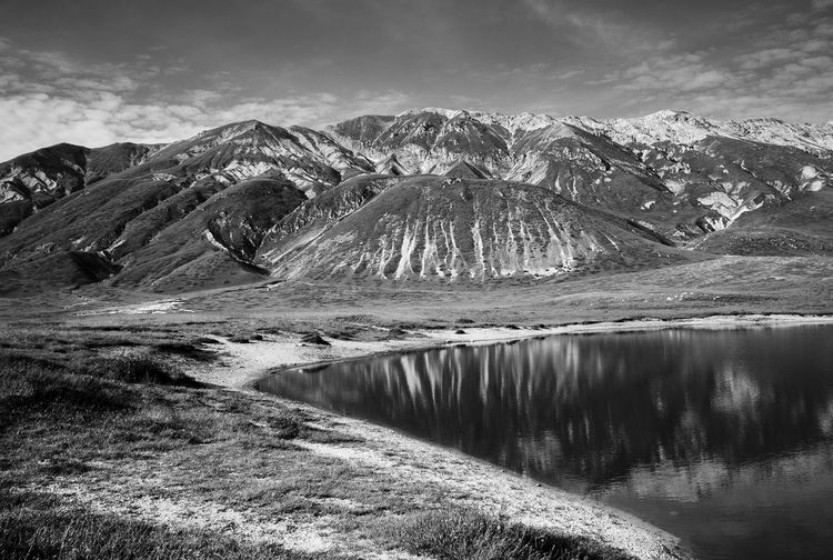 Part of Terraqua ivandimarcophotography.com Beauty In Nature Blackandwhite Campo Imperatore Cloud - Sky Day Grass Idyllic Lake Landscape Majestic Mountain Mountain Range No People Non Urban Scene Non-urban Scene Outdoors Reflection Remote Scenics Showcase July Sky Tranquil Scene Tranquility Water Wide Angle