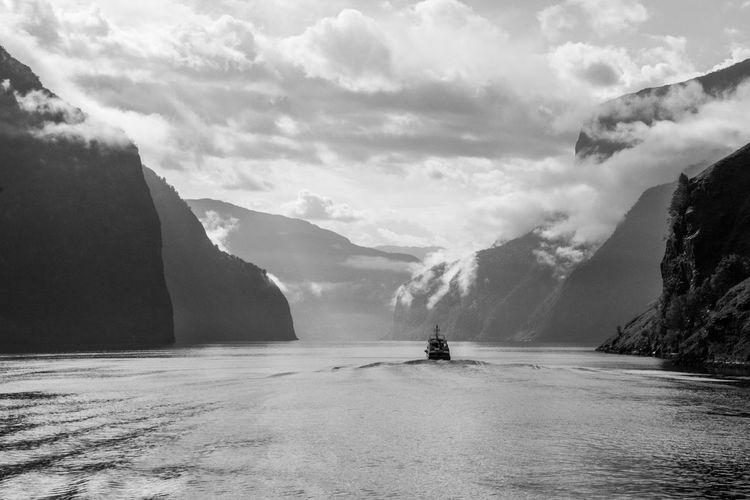 Naeroy Fjord Fjordsofnorway Norway Nærøyfjorden Beauty In Nature Cloud - Sky Day Environment Fjord Idyllic Mountain Mountain Range Nature Non-urban Scene Outdoors Real People Road Scenics - Nature Sky Tranquil Scene Tranquility Transportation Water