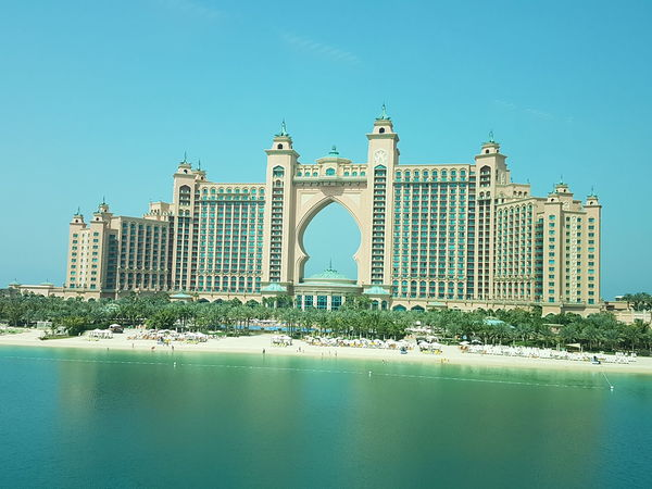 Architecture Water Travel Destinations Clear Sky Day Dubai Dubai Palm Hotel Samsung Galaxy S7