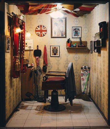 Vintage salon Salon Barbershop Vintage Scene Hair Dressing Old School
