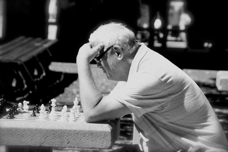 Chess Board Chess Man Thinking Man Playing Chess Old Man The Street Photographer - 2017 EyeEm Awards