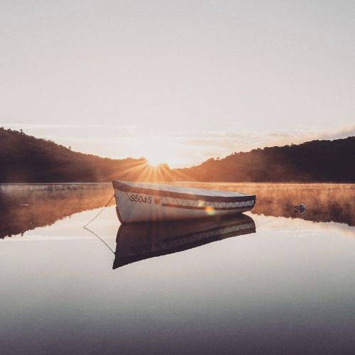 Reflection Lake Water Nature No People Nautical Vessel Scenics Autumn Outdoors Beauty In Nature Day Sky