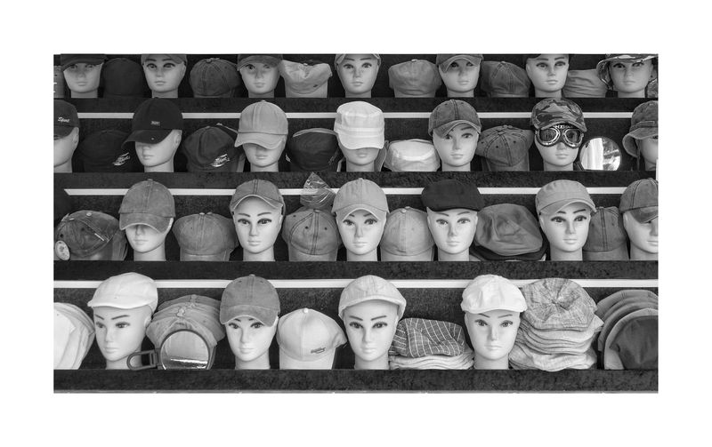 Hat Hats Shelf Clay Choice Variation Arrangement For Sale Collection Art And Craft Close-up