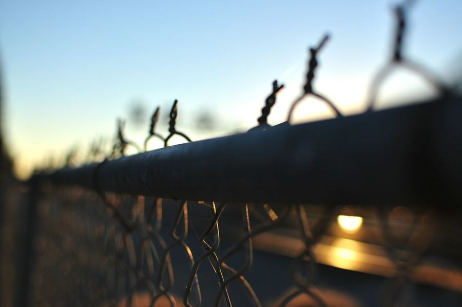 Outdoor Photography Picturing Individuality Showcase: November Anonymousnate Fence Train Tracks Train Capture The Moment Sunrise