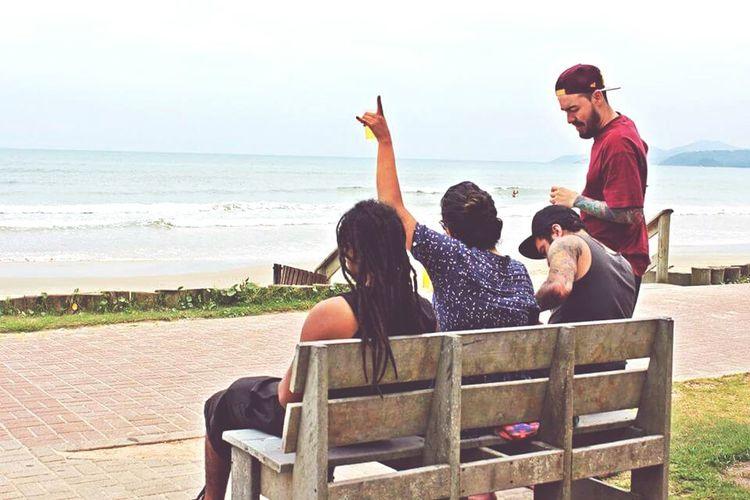 My friends. Beach Summer Brazil Florianópolis - SC Love Friends