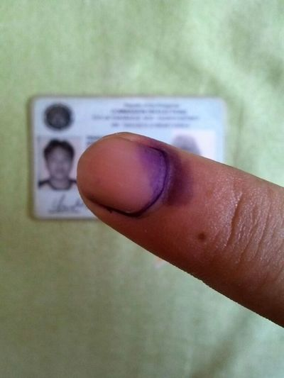 done voting Philippines Election2013