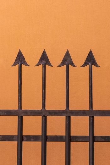 Full frame shot of orange design on wall