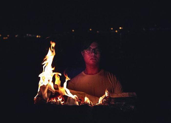 burning books thanks yoke for risking your life (and hair) to be my model Instasgsundayfire Instasgsunday10pm