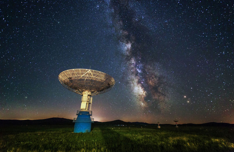 Sky China Astronomy Space Star - Space Night Technology Galaxy Satellite Satellite Dish Communication No People Space Exploration Nature Scenics - Nature Science Low Angle View Global Communications Milky Way Tower Research Radio Wave