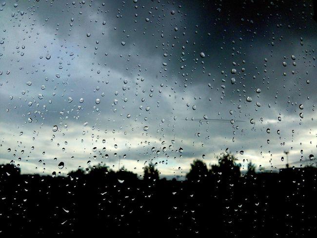 Water Window Sky Cloud Dark Blue No People Outline Rain Day
