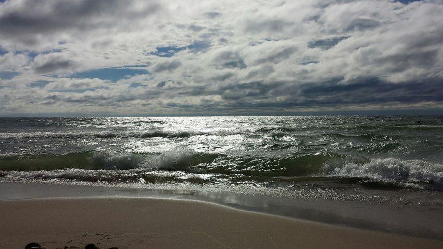 St. Joseph, Michigan Lake Michigan Beach Enjoying Life Nature Beauty Sky And Clouds Outdoors Water