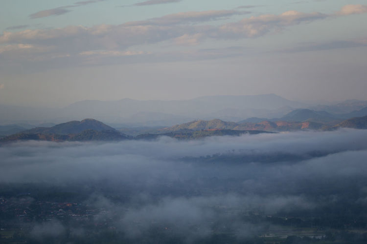 Mountains for background Cloud - Sky Mountain Sky Beauty In Nature Scenics - Nature Tranquil Scene Tranquility Fog Mountain Range No People Nature Non-urban Scene Day Environment Idyllic Landscape Outdoors Cloudscape Remote Hazy