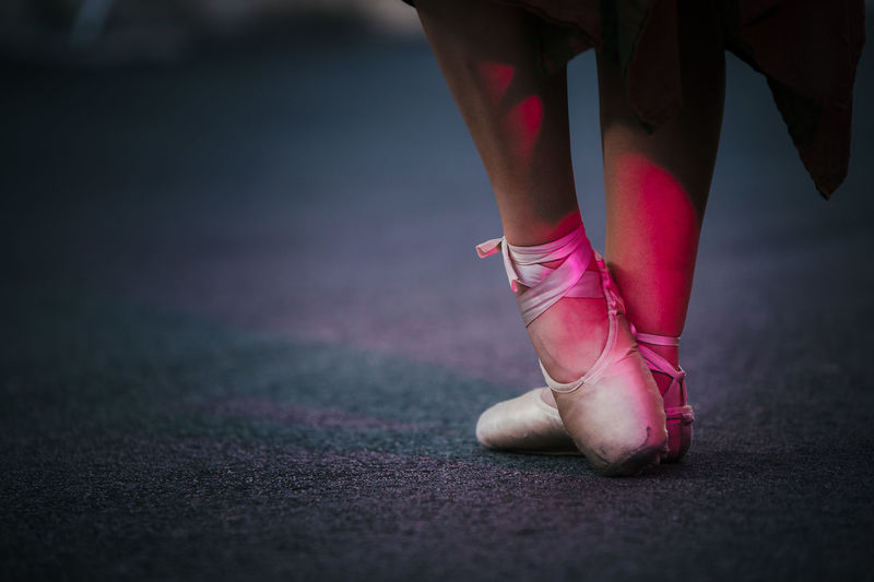 Low Section Of Ballet Dancer On Street