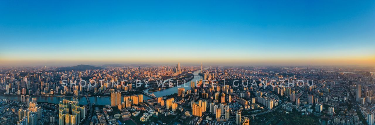 Guangzhou skyline 广州 日落 黄昏 广州塔 珠江 城市风光 Building Exterior City Cityscape Architecture Built Structure Sky Building Office Building Exterior Skyscraper Modern Clear Sky Tall - High