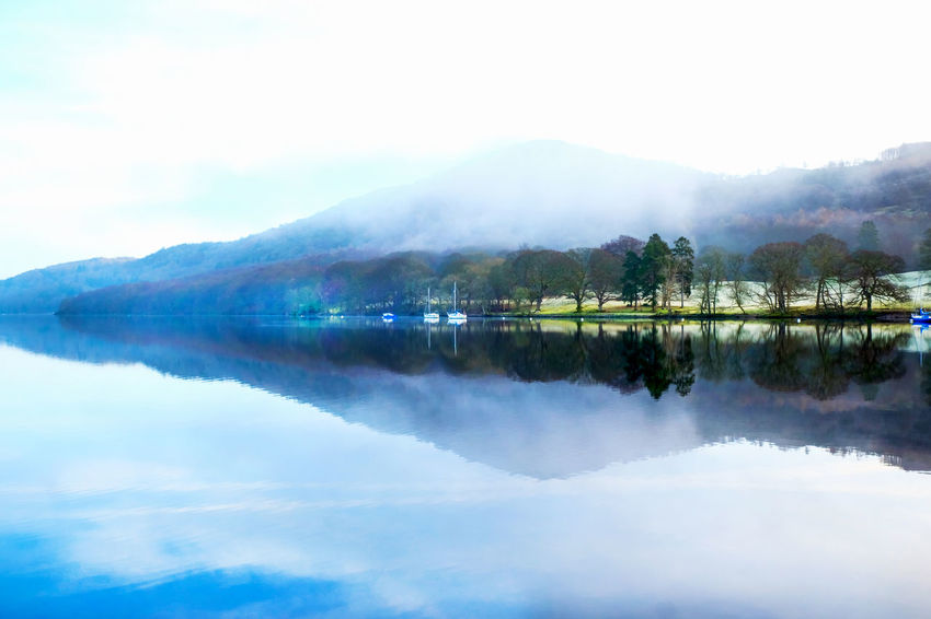 Arrow Windermere Lake Windmere Arrow Shape Arrow Symbol Beauty In Nature Day Fog Lake Lake View Lakeside Misty Morning Mountain Nature No People Outdoors Reflection Scenics Sky Tranquil Scene Tranquility Tree Water Windermere Windermerelake
