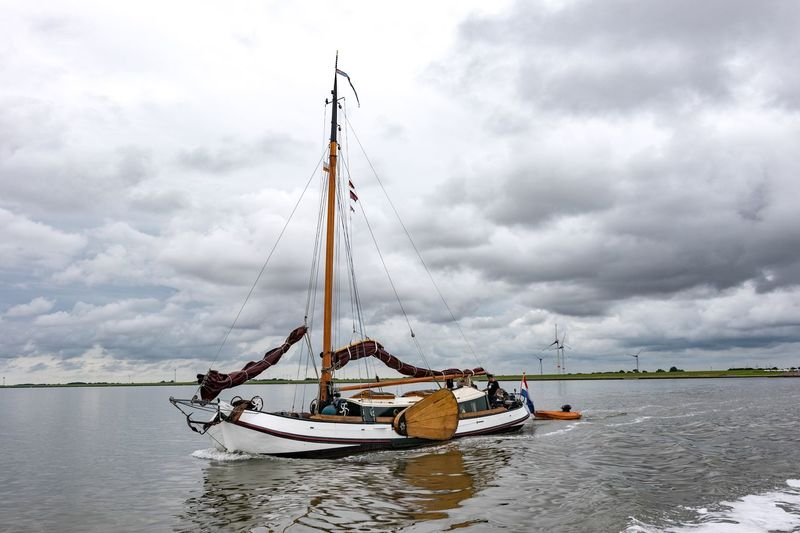 Neuharlingersiel, North Germany Nautical Vessel Sky Cloud - Sky Transportation Water Mode Of Transport Waterfront Nature Day Outdoors Sea People Mast Scenics Sailing Beauty In Nature