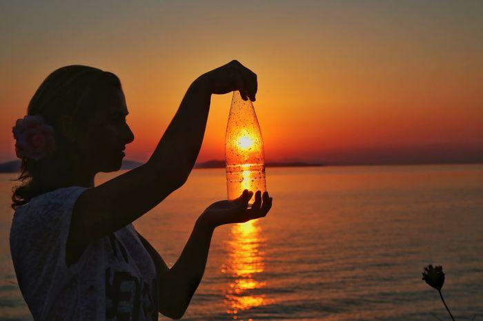 Hello World Sunset Sun Canon Sea Summer Summertime Enjoying Life Streamzoofamily Tadaa Community