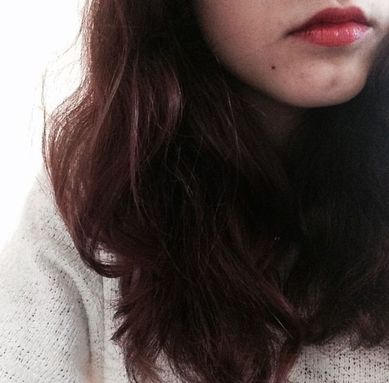 Lips Sad Hair Taking Photos