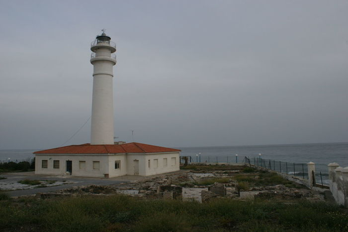 Lighthouse of Torrox in grey Weather Architecture Bleak Weather City Day Gray Weather Grey Weather Holiday Journey Leuchtturm Light House Lighthouse No People Outdoors Sea Sky Torrox Torrox Costa Torrox-costa Tourism Weather