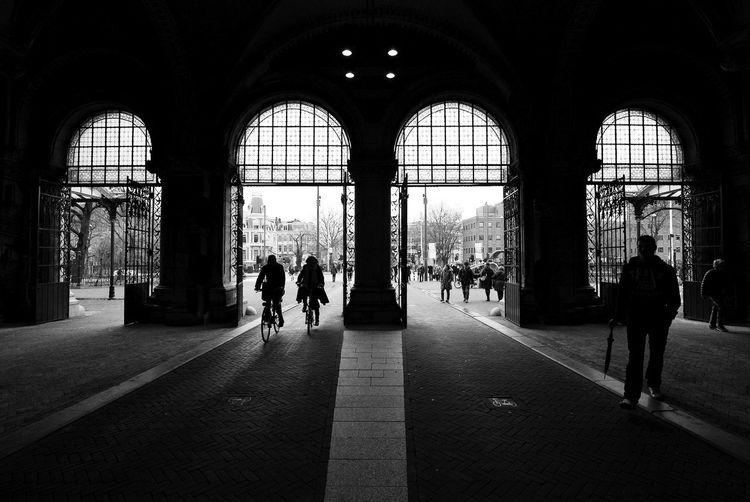 14 24 Nikon Architectural Column Architecture Backlight Black & White Silhouette Street Life Tunnel Showcase April Your Amsterdam