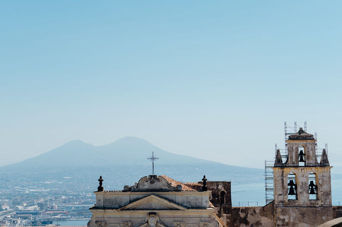 view of Naples cityscape, Italy Cityscape Misty Naples Naples, Italy People Watching Vesuvio View Airview Mist Vesuvius  Your Ticket To Europe Stories From The City