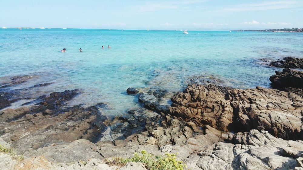 Protecting Where We Play Sea Seascape Water Cristal Clear Rocks Sardinia Sardegna Italy  Blue Wave The KIOMI Collection