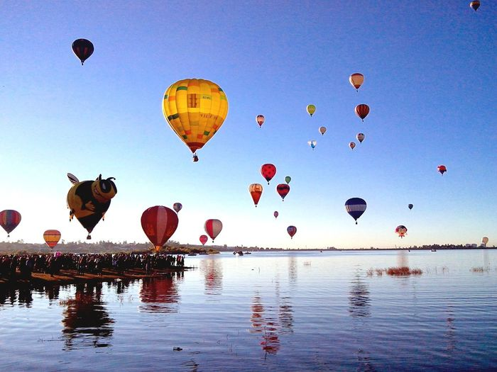 Lake Festival Del Globo Leon Guanajuato Colors Hot Air Balloon Mid-air Balloon Sky Nature Outdoors Flying Multi Colored Day Ballooning Festival Water