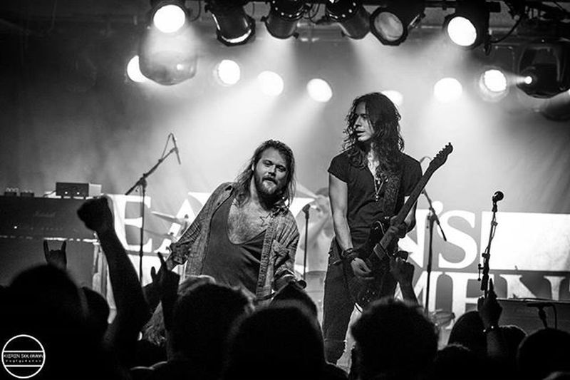 Cool shot of @sidglover and DannyWorsnop at the @heavens_basement gig last Friday in Bristol Marblefactorybristol
