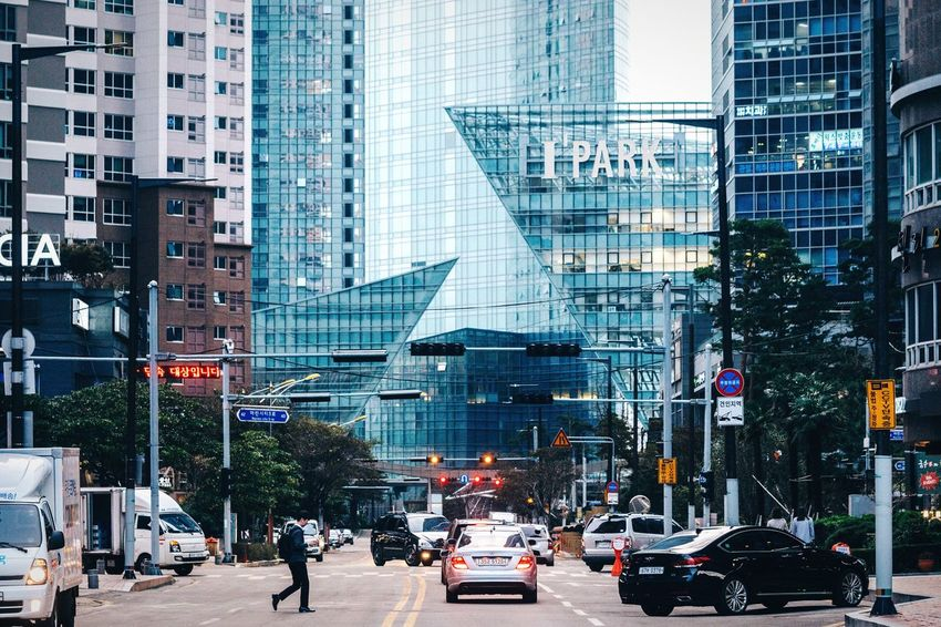 Boats have invaded the street! Architecture City Dramatic Angles Building Exterior Modern City Life Street Office Building Road City Street Busan Korea Modern Glass - Material Urban Landscape Urban Skyline Skyscraper Skyline City Life Cityscapes Geometric Shapes Residential District City Street Streetphotography Urban Lifestyle