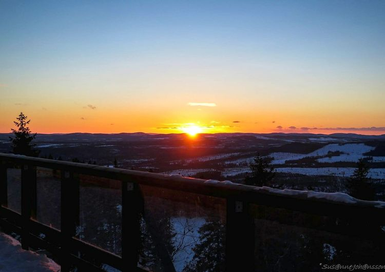 Sunset at Kläppen skiresort, Sweden. First Eyeem Photo